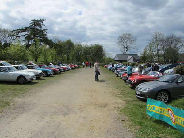 Club cars at Foxton Locks